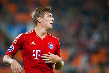 Kroos' goal against Arsenal in London proved vital for the Bavarians