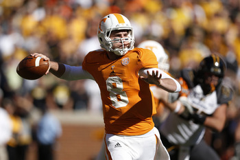 Tyler Bray has one of the strongest arms of all the quarterbacks in the 2013 NFL draft.