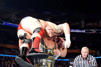So, we've established he can lift Tensai, right? (Photo courtesy of wrestling.pt)