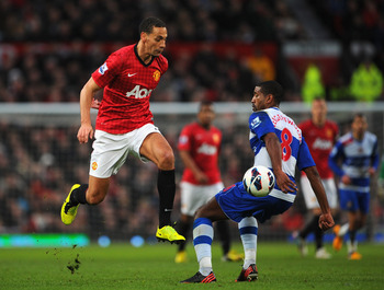 Rio Ferdinand's marauding run set up Wayne Rooney to open the scoring for Manchester United against Reading.