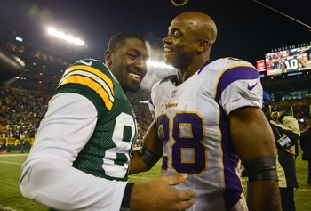 Greg Jennings and Adrian Peterson will join forces in Minnesota.