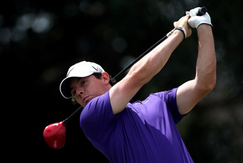 Rory McIlroy unleashes a long, straight drive at Doral.