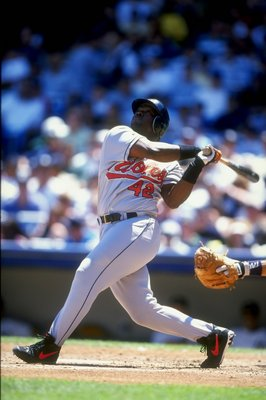 Lenny Webster's career year was 1998, when he hit .285/10/46 while a Baltimore Oriole wearing #42.