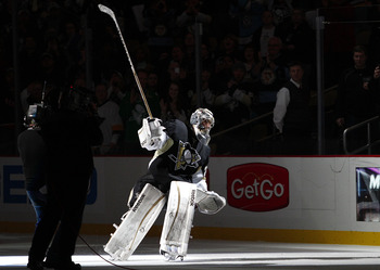 Marc-Andre Fleury is now the Pens all-time shutout leader.