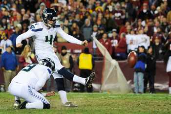 Seattle kicker Steven Hauschka