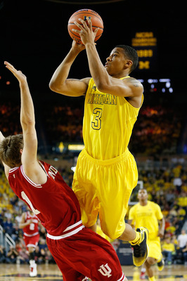Michigan sophomore guard Trey Burke.
