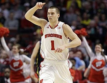 Wisconsin junior guard Ben Brust. (AP)