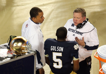 Brian Kelly (right) and Everett Golson will fight for another chance to win the BCS title.