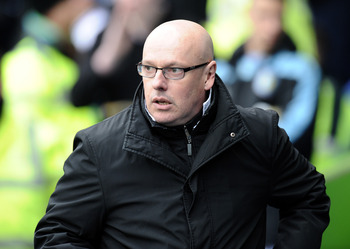 READING, ENGLAND - MARCH 09:  Brian McDermott, manager of Reading during the Premier League match between Reading and Aston Villa at Madejski Stadium on March 9, 2013 in Reading, England.  (Photo by Tony Marshall/Getty Images)