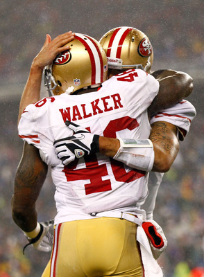 Tight end Delanie Walker ended his seven-year tenure with the 49ers.