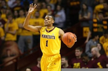 Minnesota sophomore guard Andre Hollins. (credit: Andy Lyons/Getty Images)