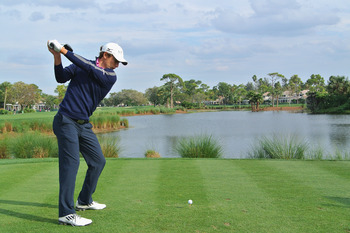 Charles Howell III unleashes a drive at the Honda Classic.