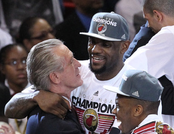Pat Riley promised LeBron James that they could win rings together in Miami.