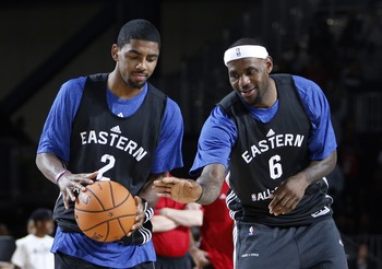On the All-Star team, LeBron James and Kyrie Irving appeared to connect rather well.