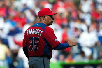 Puerto Rico's Edwin Rodriguez pushed all the right buttons for his team in this event.