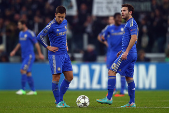 "Eden Hazard and Juan Mata form the ""Three Amigos"" with Oscar."