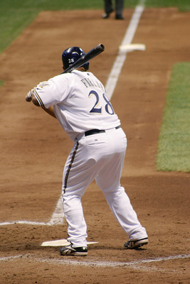 Prince Fielder gets ready to mash one against the Yankees. Photography by Robert Bluestein