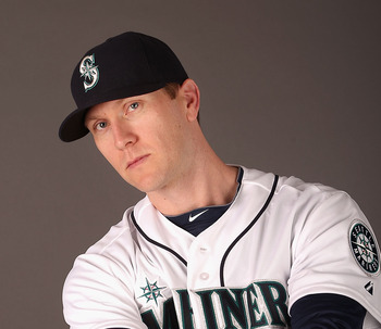 Mariners' outfielder Jason Bay.