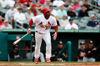 Oscar Taveras and his bat are coming sooner than you might think.