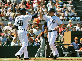 Andy Dirks with Torii Hunter