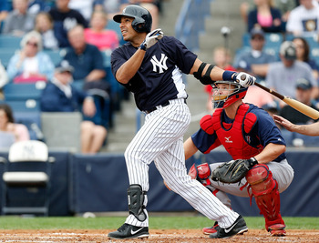 Juan Rivera may share first-base duties to open the season for the Yankees.