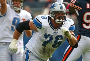 Jeff Backus retired and the Lions don't have a viable replacement.