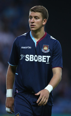 Talent: George Moncur hopes to follow the path of his father, John, who played over 150 games for West Ham.