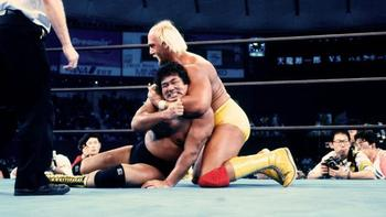 Hulk Hogan vs. Genichio Tenryu (Photo from WWE.com)