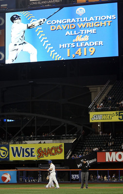 Citi Field acknowledged Wright's record-breaking hit.