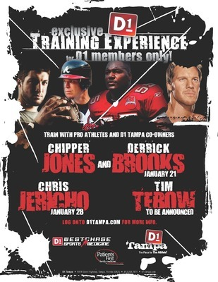 Chris Jericho, along with Derrick Brooks, Chipper Jones and Tim Tebow, owns a sports training facility in Tampa. Photo Courtesy d1tampa.com