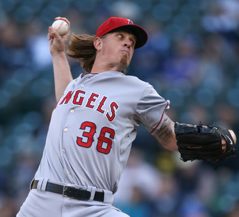 Jered Weaver threw his first MLB no-hitter in his 183rd career start.