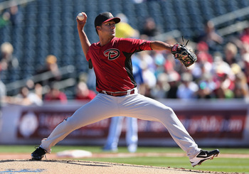 Randall Delgado may have overtaken Patrick Corbin for the fifth and final spot in the starting rotation.