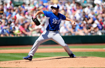 Bruce Chen is hanging on to the final spot in the Royals rotation—barely.