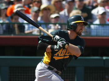 Second baseman Eric Sogard has been the A's best hitter all spring.