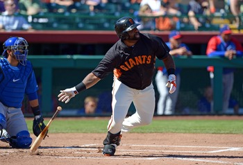 Pablo Sandoval's sore right elbow could have him starting the season on the disabled list.