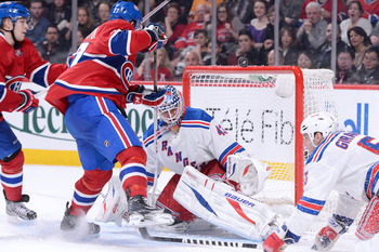 The Montreal Canadiens against the New York Rangers.