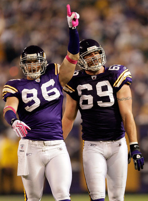 Both Brian Robison and Jared Allen will be free agents in 2014.