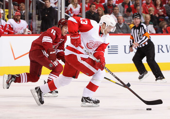 Pavel Datsyuk brings his bag of tricks to Jobing.com Arena on Monday to take on the Coyotes