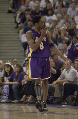Kobe Bryant silences the Sacramento crowd during the 2001 playoffs.