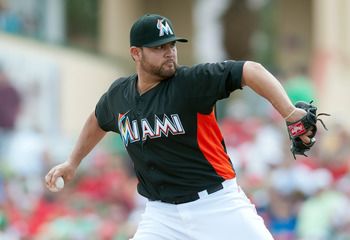 Ricky Nolasco is the ace of the staff and will start on Opening Day for the Marlins.