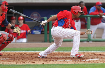 Ben Revere's speed and on-base capabilities could have him batting leadoff for the Phillies sometime in the 2013 season.