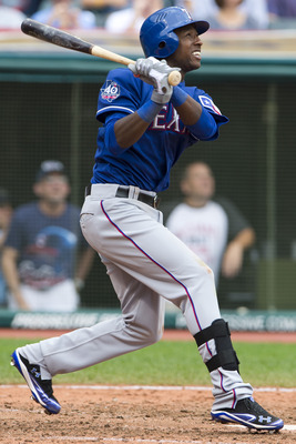 Profar had three extra-base hits in 17 MLB at-bats in 2012.