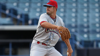 Adam Morgan had a rough start to his spring but has gotten back on track with two solid outings in March. Courtesy of Mark LoMoglio, MiLB.com