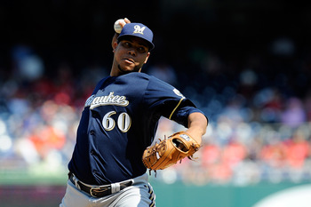 Wily Peralta looked like a candidate to be in the Brewers' rotation this spring, but he struggled and was sent to minor league camp.