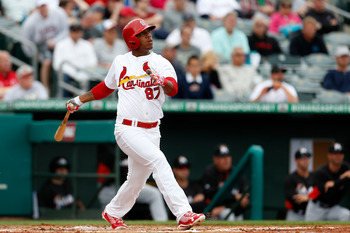 Oscar Taveras' bat might be made out of rainbows and unicorns, it's that good.