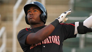 Courtney Hawkins has the kind of ceiling the White Sox have avoided in the draft. Courtesy of Matt Burton, MiLB.com.