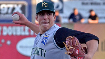 Kyle Zimmer represents the highest ceiling arm the Royals have. Courtesy of Paul R. Gierhart, MiLB.com