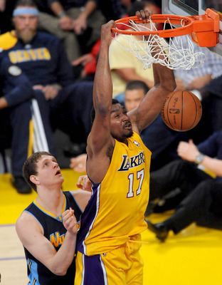 Andrew Bynum was an All-Star for the Lakers in the 2011-12 season.