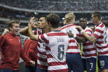The Americans have won only once at the Azteca.