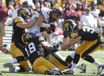 No. 37 is backup safety John Lowdermilk, one of the few available pictures of any of Iowa's second-string defense.